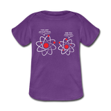 """I've Lost an Electron"" - Baby Lap Shoulder T-Shirt purple / Newborn - LabRatGifts - 2"