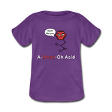 """A-Mean-Oh Acid"" - Baby Lap Shoulder T-Shirt purple / Newborn - LabRatGifts - 2"
