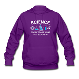 """Science Doesn't Care"" - Women's Sweatshirt purple / S - LabRatGifts - 2"