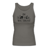 """In Science We Trust"" (black) - Women's Tank Top graphite gray / S - LabRatGifts - 3"
