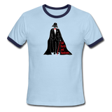 """Tall Darth and Handsome"" - Men's American Apparel Shirt sky/navy / S - LabRatGifts - 3"