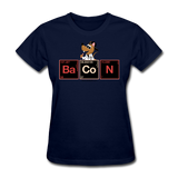 """Bacon Periodic Table"" - Women's T-Shirt navy / S - LabRatGifts - 10"