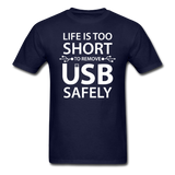 """Life is too Short"" (white) - Men's T-Shirt navy / S - LabRatGifts - 2"