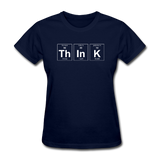 """ThInK"" (white) - Women's T-Shirt navy / S - LabRatGifts - 2"