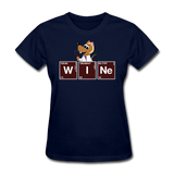 """Wine Periodic Table"" - Women's T-Shirt navy / S - LabRatGifts - 9"