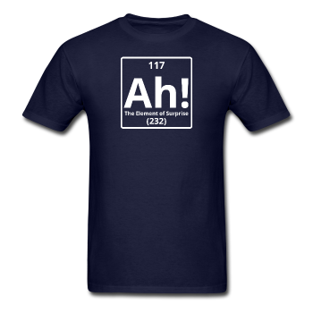 """Ah! The Element of Surprise"" - Men's T-Shirt navy / S - LabRatGifts - 1"