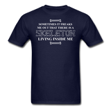 """Skeleton Inside Me"" - Men's T-Shirt navy / S - LabRatGifts - 2"