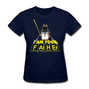 """I Am Your Father"" - Women's T-Shirt navy / S - LabRatGifts - 1"
