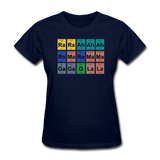 """Lady Gaga Periodic Table"" - Women's T-Shirt navy / S - LabRatGifts - 2"