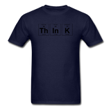 """ThInK"" (black) - Men's T-Shirt navy / S - LabRatGifts - 14"