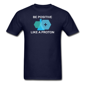 """Be Positive"" (white) - Men's T-Shirt navy / S - LabRatGifts - 1"