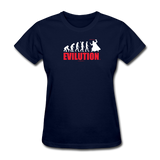 """Evilution"" - Women's T-Shirt navy / S - LabRatGifts - 2"