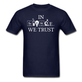 """In Science We Trust"" (white) - Men's T-Shirt navy / S - LabRatGifts - 2"