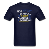 """Technically Alcohol is a Solution"" - Men's T-Shirt navy / S - LabRatGifts - 2"