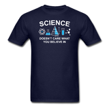 """Science Doesn't Care"" - Men's T-Shirt navy / S - LabRatGifts - 2"