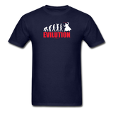 """Evilution"" - Men's T-Shirt navy / S - LabRatGifts - 2"