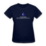 """If You Like Water"" - Women's T-Shirt navy / S - LabRatGifts - 2"