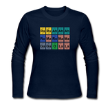 """Lady Gaga Periodic Table"" - Women's Long Sleeve T-Shirt navy / S - LabRatGifts - 6"