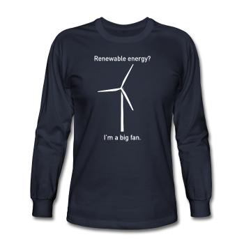"""I'm a Big Fan"" - Men's Long Sleeve T-Shirt navy / S - LabRatGifts - 1"