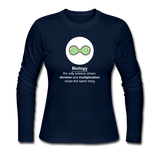 """Biology Division"" - Women's Long Sleeve T-Shirt navy / S - LabRatGifts - 5"
