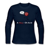 """A-Mean-Oh Acid"" - Women's Long Sleeve T-Shirt navy / S - LabRatGifts - 4"