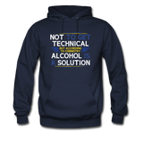 """Technically Alcohol is a Solution"" - Men's Sweatshirt navy / S - LabRatGifts - 7"