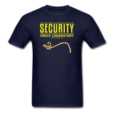 """Security Ebola Laboratory"" - Men's T-Shirt navy / S - LabRatGifts - 14"
