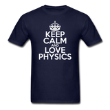 """Keep Calm and Love Physics"" (white) - Men's T-Shirt navy / S - LabRatGifts - 8"