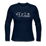 """I Ate Some Pie"" (white) - Women's Long Sleeve T-Shirt navy / S - LabRatGifts - 1"