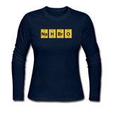 """NaH BrO"" - Women's Long Sleeve T-Shirt navy / S - LabRatGifts - 6"