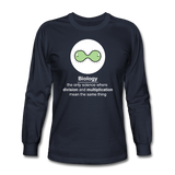"""Biology Division"" - Men's Long Sleeve T-Shirt navy / S - LabRatGifts - 2"