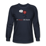 """A-Mean-Oh Acid"" - Men's Long Sleeve T-Shirt navy / S - LabRatGifts - 3"