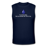 """If You Like Water"" - Men's Muscle T-Shirt navy / S - LabRatGifts - 4"
