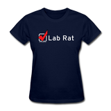 """Lab Rat, Check"" - Women's T-Shirt navy / S - LabRatGifts - 9"