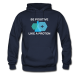 """Be Positive"" (white) - Men's Sweatshirt navy / S - LabRatGifts - 2"