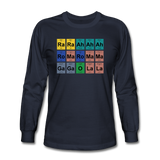 """Lady Gaga Periodic Table"" - Men's Long Sleeve T-Shirt navy / S - LabRatGifts - 4"