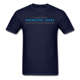 """Chemistry Jokes"" - Men's T-Shirt navy / S - LabRatGifts - 13"
