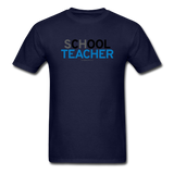 """sChOOL Teacher"" - Men's T-Shirt navy / S - LabRatGifts - 12"