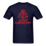"""Keep Calm and Love Chemistry"" (red) - Men's T-Shirt navy / S - LabRatGifts - 12"