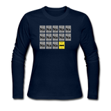 """Na Na Na Batmanium"" - Women's Long Sleeve T-Shirt navy / S - LabRatGifts - 6"