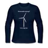 """I'm a Big Fan"" - Women's Long Sleeve T-Shirt navy / S - LabRatGifts - 1"