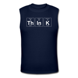 """ThInK"" (white) - Men's Muscle T-Shirt navy / S - LabRatGifts - 4"