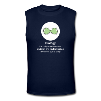 """Biology Division"" - Men's Muscle T-Shirt navy / S - LabRatGifts - 1"