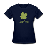 """Lucky Lab Tech"" - Women's T-Shirt navy / S - LabRatGifts - 10"