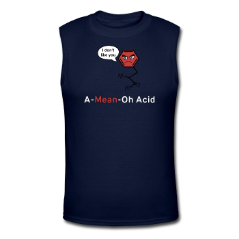 """A-Mean-Oh Acid"" - Men's Muscle T-Shirt navy / S - LabRatGifts - 1"