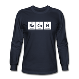 """BaCoN"" - Men's Long Sleeve T-Shirt navy / S - LabRatGifts - 2"