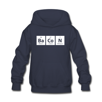 """BaCoN"" - Kids' Sweatshirt navy / S - LabRatGifts - 1"