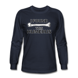 """I Found this Humerus"" - Men's Long Sleeve T-Shirt navy / S - LabRatGifts - 4"