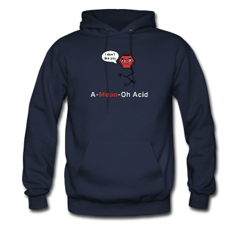 """A-Mean-Oh Acid"" - Men's Sweatshirt navy / S - LabRatGifts - 1"