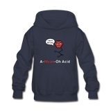 """A-Mean-Oh Acid"" - Kids' Sweatshirt navy / S - LabRatGifts - 3"